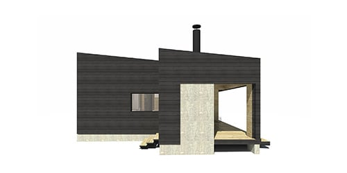 Sunhouse Linjakas talo S431 - Moderni Huvila