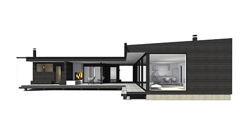 Sunhouse Linjakas talo S450 - Moderni huvila