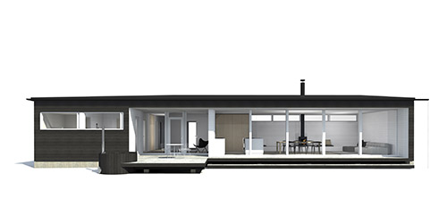 Sunhouse Linjakas talo S500 - Moderni huvila