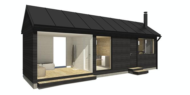Sunhouse Sauna Ö - moderni saunarakennus