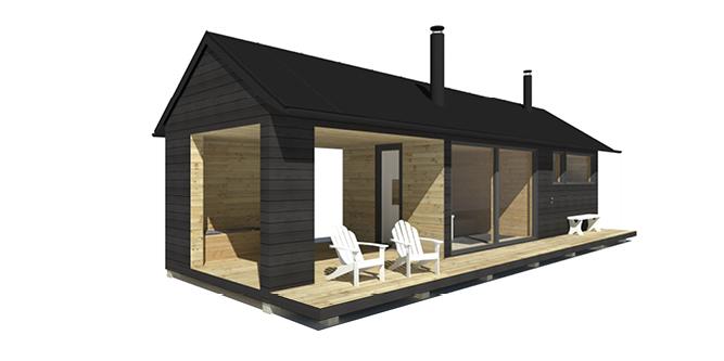 Sunhouse Sauna F - tilava saunarakennus