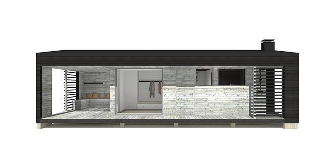 Sunhouse Sauna G - moderni rantasauna