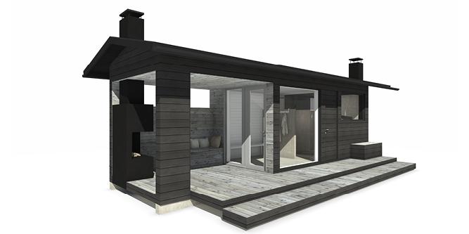 Sunhouse Sauna Q - pieni saunarakennus