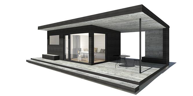 Sunhouse Sauna T - moderni saunarakennus