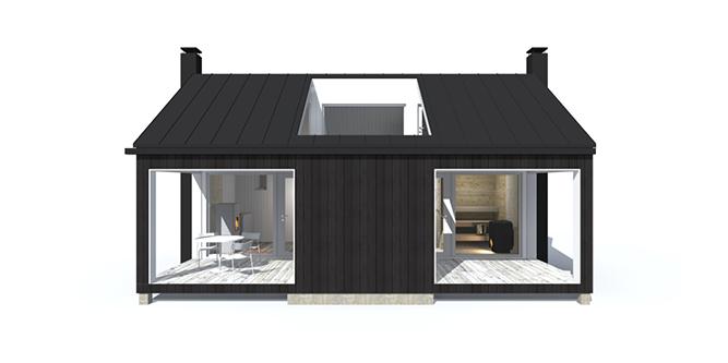 Sunhouse Sauna XS3 - moderni saunamökki