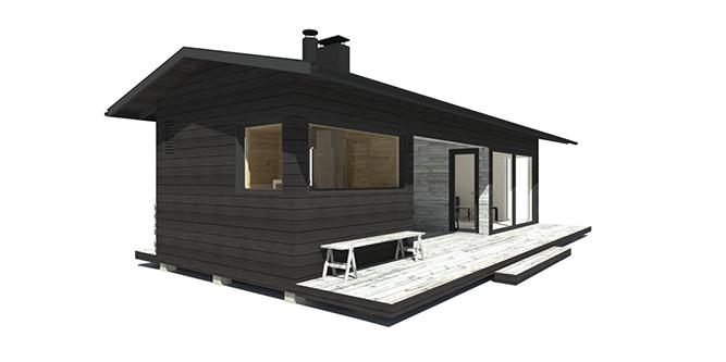 Sunhouse Sauna Y - moderni saunarakennus