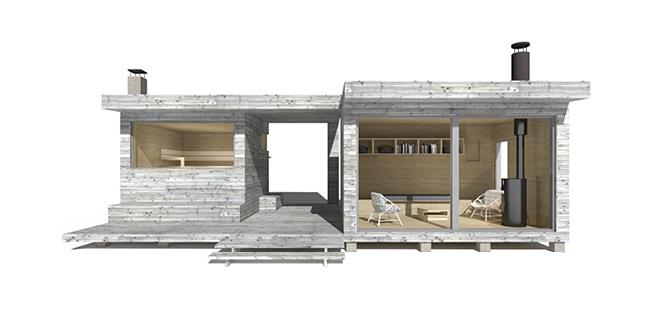 Sunhouse Sauna Z - moderni saunarakennus