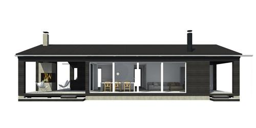 Sunhouse Linjakas talo S270 - Moderni vapaa-ajan asunto